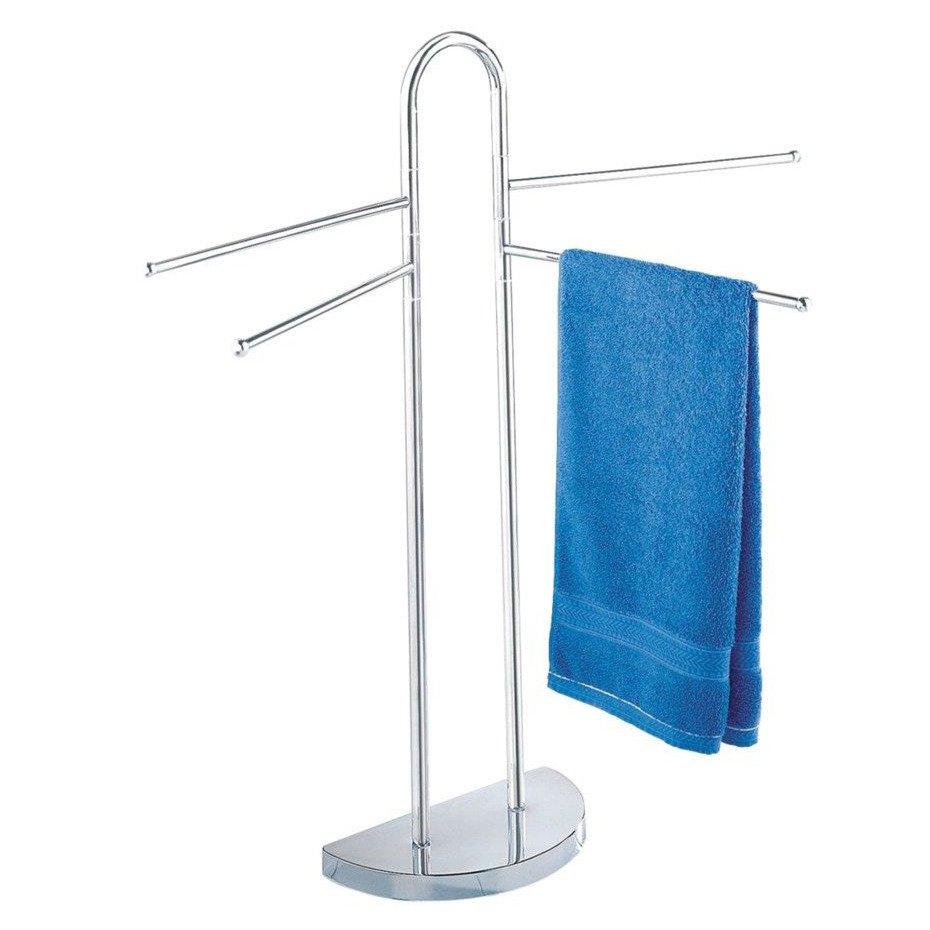 łazienkowy Stojak Na Ręczniki 4 Ramienny Chromowany Wenko
