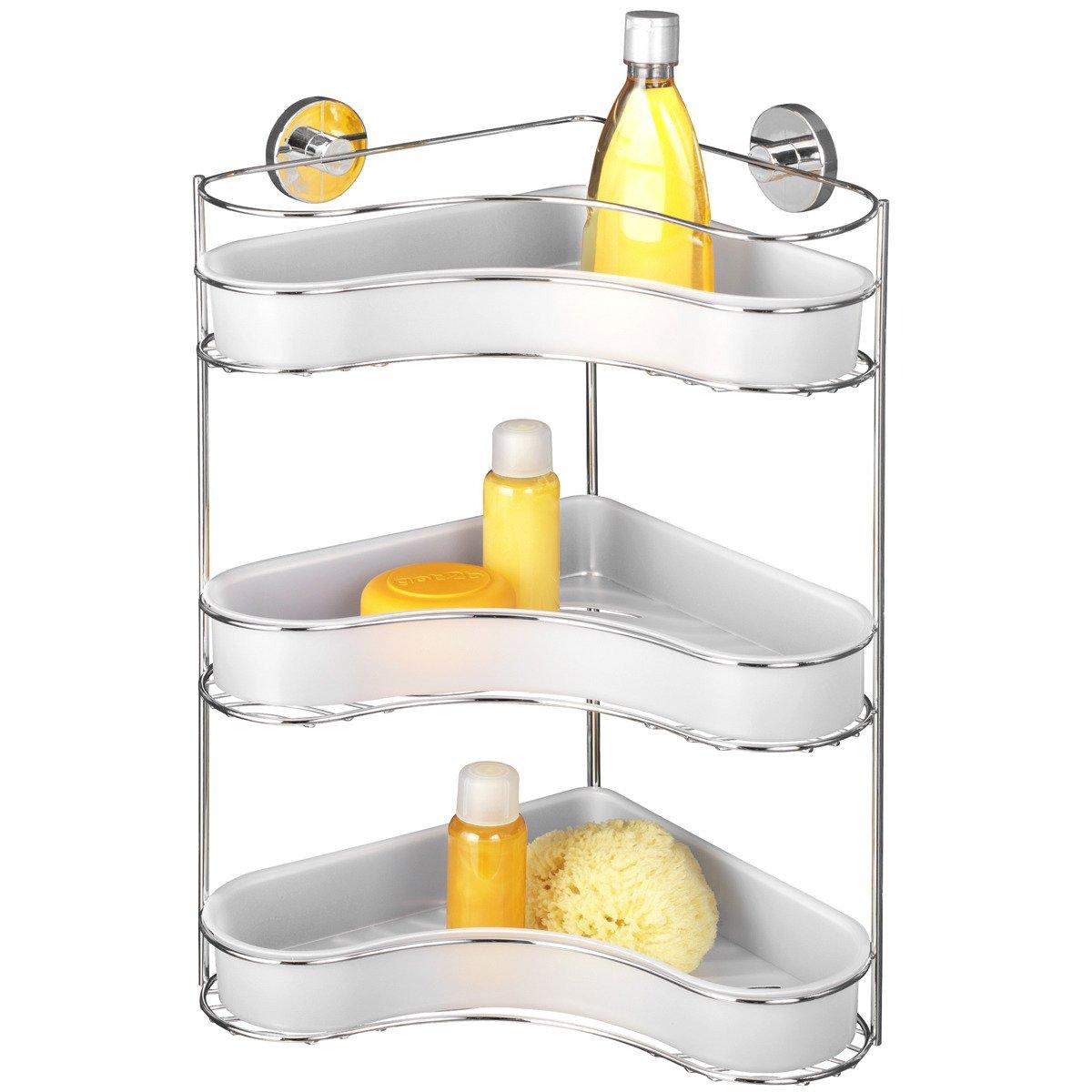 Narożna Półka łazienkowa Milazzo Vacuum Loc 3 Poziomy