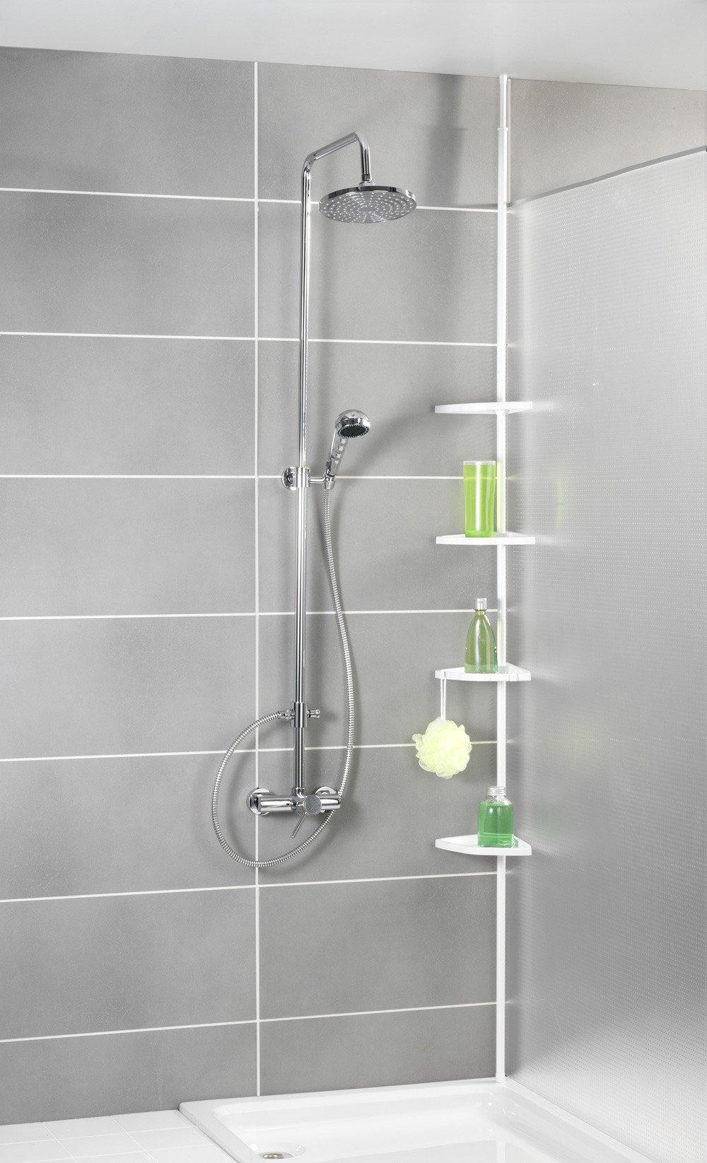 Narożna Półka łazienkowa Pod Prysznic Regał 4 Poziomowy Do łazienki